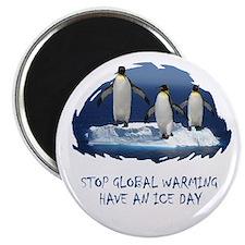 Cute Penguin Anti Global Warming Magnet
