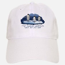 Cute Penguin Anti Global Warming Baseball Baseball Cap