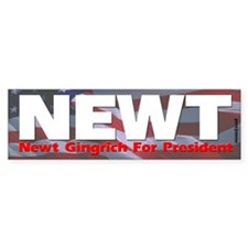 Newt Gingrich For President Bumper Car Sticker