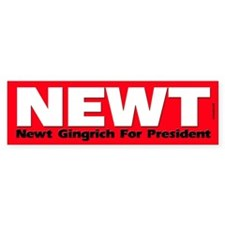 Newt Gingrich For President Bumper Bumper Sticker