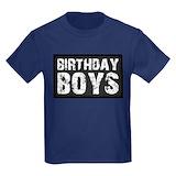 Twin birthday boys Kids T-shirts (Dark)