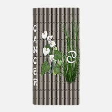 Bamboo and Lily Cancer Beach Towel