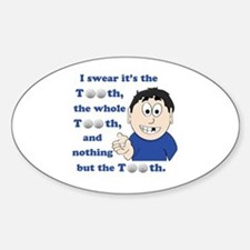 Cute Tooth fairy Sticker (Oval)