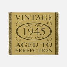 1945 Vintage Fancy Throw Blanket