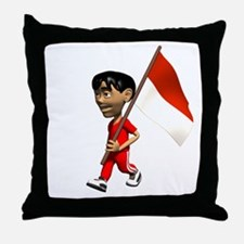 Indonesia Boy Throw Pillow