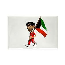 Kuwait Boy Rectangle Magnet