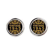 Vintage 1945 Round Cufflinks