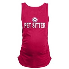 Pet Sitter Purple Circle Paw Maternity Tank Top