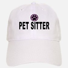 Pet Sitter Purple Circle Paw Baseball Baseball Baseball Cap