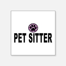 Pet Sitter Purple Circle Paw Sticker