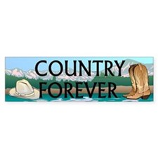 Country Forever Bumper Sticker
