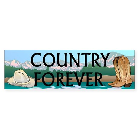 Country Forever Sticker (Bumper)