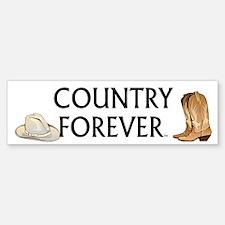Country Forever Bumper Bumper Sticker
