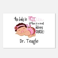 Personalized Funny Gyneco Postcards (Package of 8)