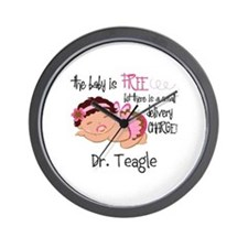 Personalized Funny Gynecologists Wall Clock