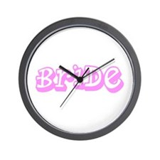 Pink Im the Bride Wedding for Sarah Wall Clock