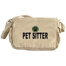 Pet Sitter Green Stripes Messenger Bag