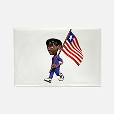 Liberia Boy Rectangle Magnet