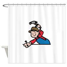 HANDYMAN Shower Curtain