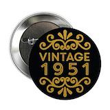 1951 birthday Buttons