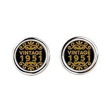 Vintage 1951 Round Cufflinks