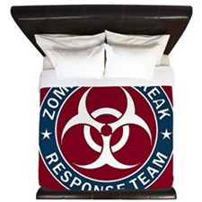 Zombie Outbreak Response Team - Blue King Duvet