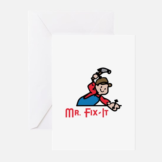 MR FIX IT Greeting Cards
