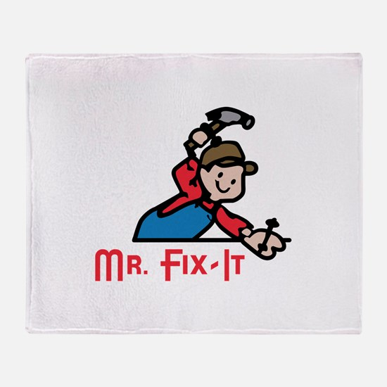 MR FIX IT Throw Blanket