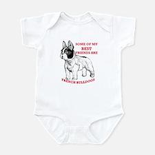 Unique French bull dogs Infant Bodysuit
