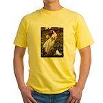 Windflowers & Papillon Yellow T-Shirt