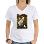 Windflowers & Papillon Women's V-Neck T-Shirt