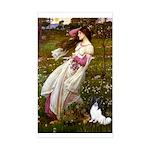 Windflowers & Papillon Sticker (Rectangle)
