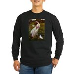 Windflowers & Papillon Long Sleeve Dark T-Shirt