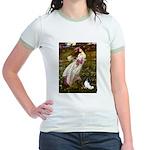 Windflowers & Papillon Jr. Ringer T-Shirt