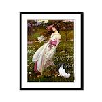 Windflowers & Papillon Framed Panel Print