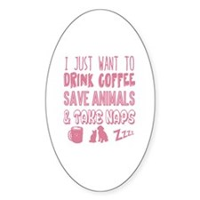 Coffee Animals Naps Decal