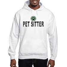 Pet Sitter Green Circle Paw Hoodie