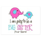 Big sister elephant 5 x 7 Flat Cards