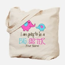 I am Going to be a Big Sister | Elephant Tote Bag