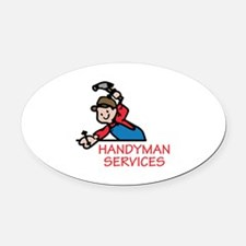 HANDYMAN SERVICES Oval Car Magnet