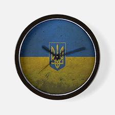 Ukrainian Flag Wall Clock