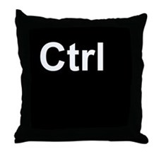 Ctrl black Throw Pillow