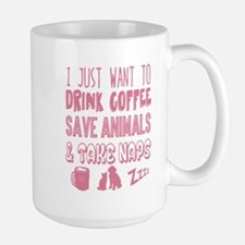 Coffee Animals Naps Mugs