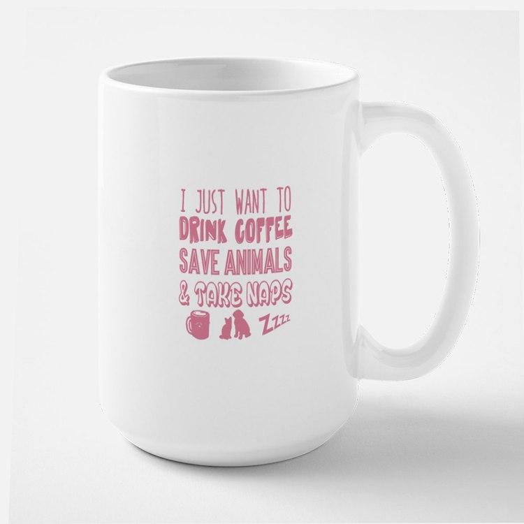 Coffee Animals Naps Mugs