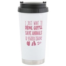 Coffee Animals Naps Travel Coffee Mug