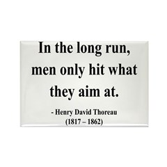 Henry David Thoreau 20 Rectangle Magnet (10 pack)