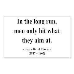 Henry David Thoreau 20 Rectangle Decal