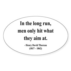 Henry David Thoreau 20 Oval Decal