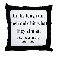 Henry David Thoreau 20 Throw Pillow