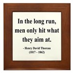 Henry David Thoreau 20 Framed Tile